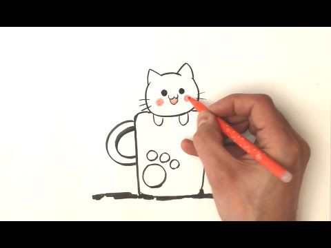 Top 25 ideas about dessin chat facile on pinterest - Dessin de chat kawaii ...