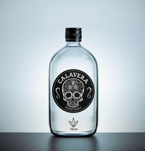 mas tequila / Sasha Ermolenko: Calavera Organic, Skulls, Calavera Tequila, Tequila Bottles, Packaging, Calaveratequila, Organic Tequila, Drinks, Bottle Design