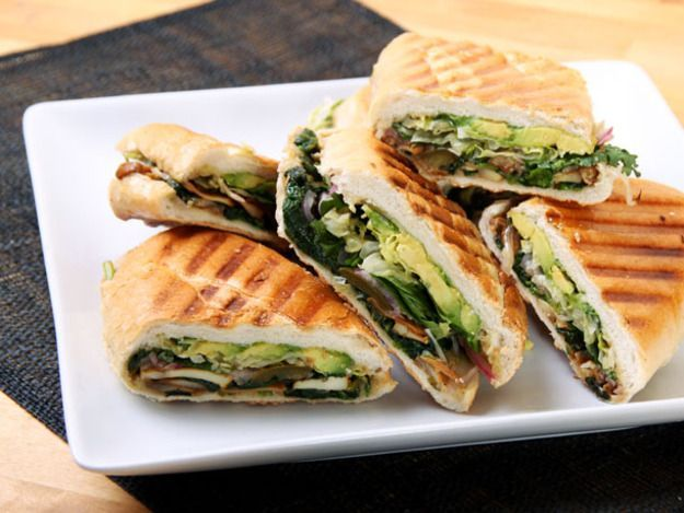 Mexican Mushroom and Spinach Sandwich (Vegan Torta) ~ via http://www.seriouseats.com/recipes/2013/02/mexican-mushroom-and-spinach-sandwich-vegan-torta-recipe.html