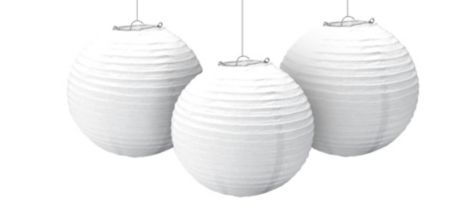 White Paper Lantern Garland 9 1/2in 3ct - Party City Canada