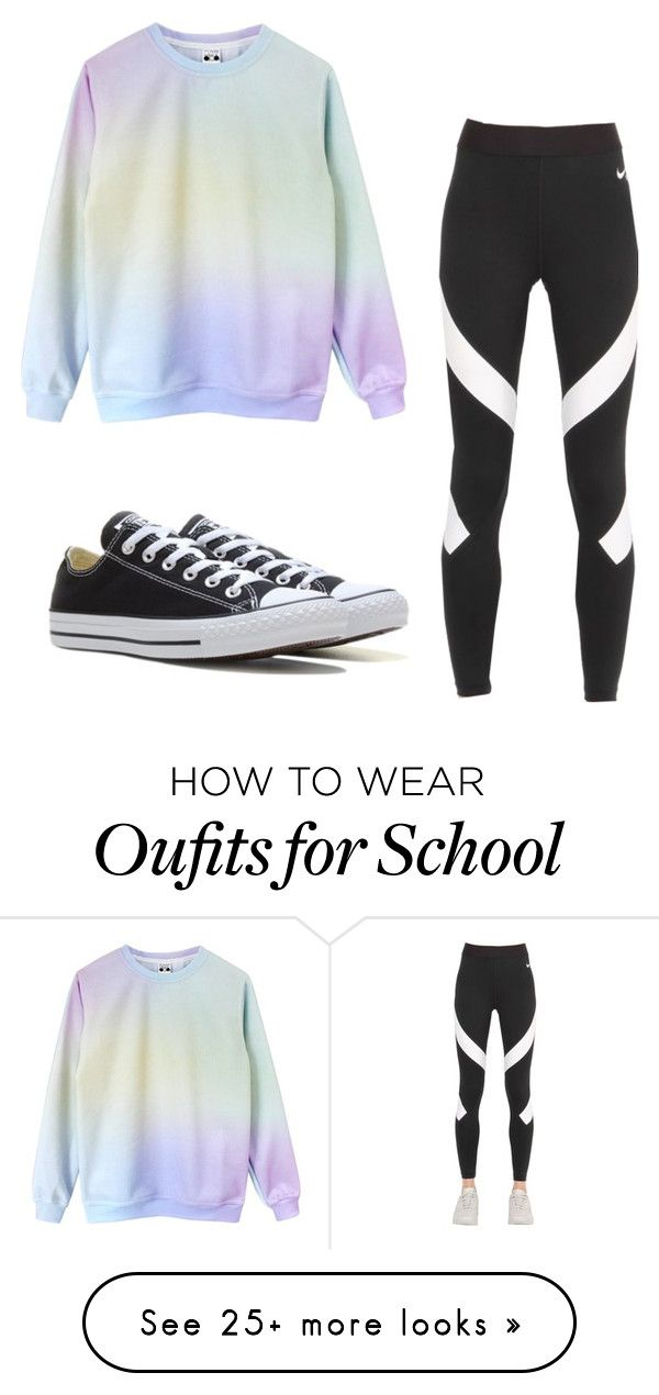 Casual School Day!! by cheyennerego on Polyvore featuring NIKE and Converse