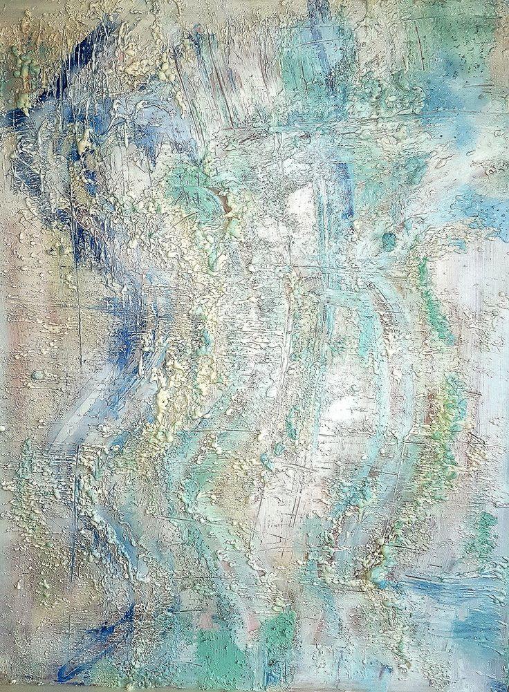 Gallerymak.com - 2.250 TL / 700 USD  Frozen by Sara Erdal - Ahşap üzerine Akrilik (Acrylic on Wood) - 70x90  #gallerymak #sanat #ig_sanat #resim #tablo #soyut #sanatsal #sergi #akrilik #sanatgalerisi #istanbulmodern #contemporaryistanbul #mavi #ekspresyonizm #painting
