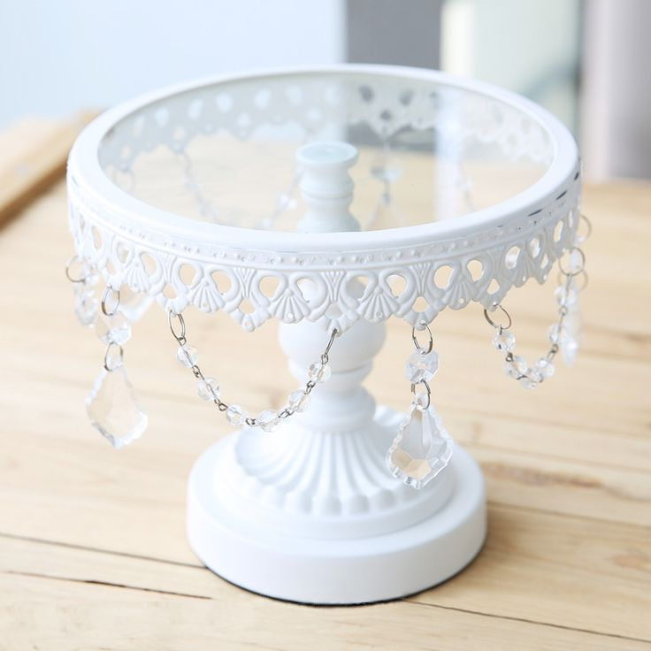 1 pc White Iron Cake Stand Fruit Dish Pastry Plate Wedding Decoration Small Size 19*16cm - This would love to have Dad and Jenns little 2 tear sitting on this! its so cute!