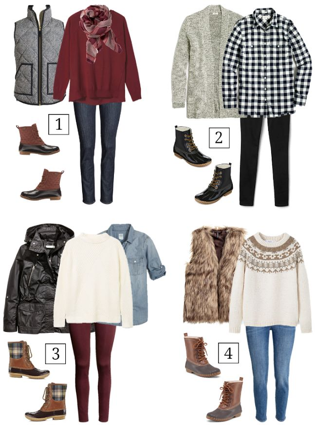 Q&A: How To Wear Duck Boots (I like outfits 2 & 3.)
