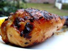 This is my familys recipe for grilled chicken, mexican-style.  It is very similar to what you would get at El Pollo Loco fast food restaurants - although we were eating this way before they ever existed! Achiote powder should be available in most grocery stores mexican spice section, but is easily found at mexican grocers or online.  It imparts a subtle flavor that is definitely hispanic, and it also gives the chicken its wonderful golden color. Prep time does not include marinating time…