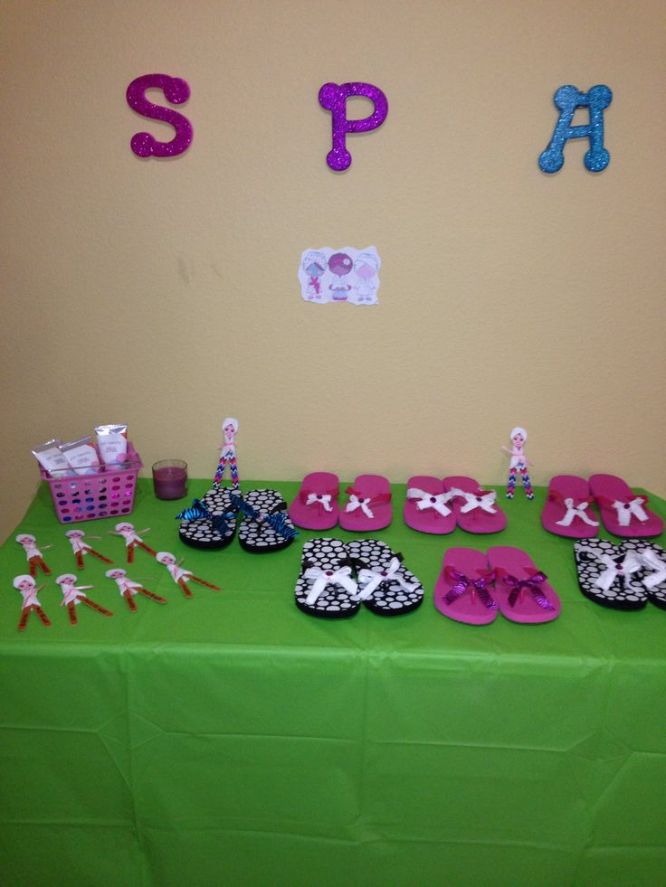 More spa party stuff