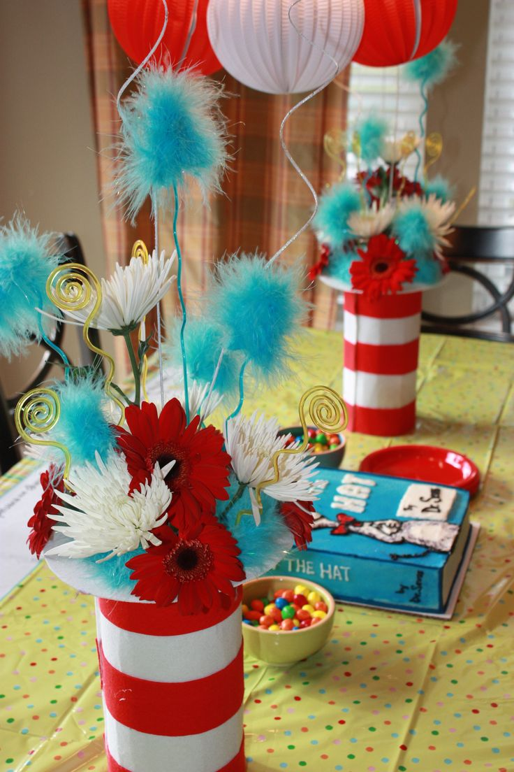 Dr Seuss Party Decorations 17 Best Images About Dr Seuss Birthday Party On Pinterest Party