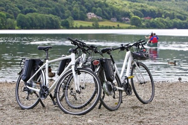 """encouraging more people onto bikes of whatever kind reduces pollution and congestion on the roads."""" Electric bikes in Cumbria"""
