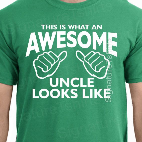 This is What An Awesome Uncle Looks Like T shirt gift for uncle shirt mens Family tshirt new Baby tee Christmas on Etsy, $13.95