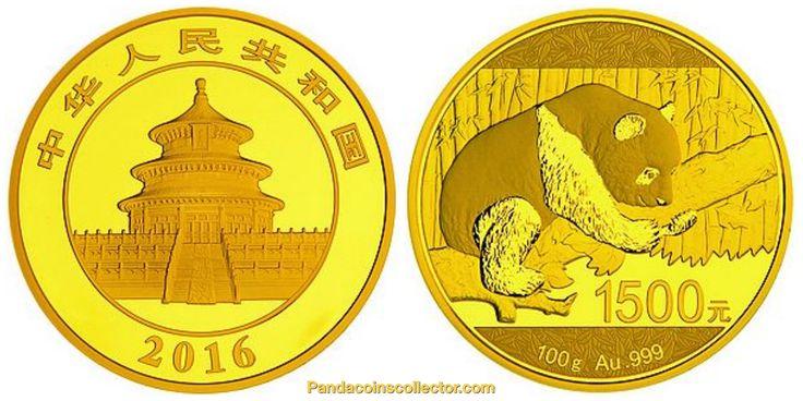 2016 China Panda Proof Gold 100g Around 3 215oz