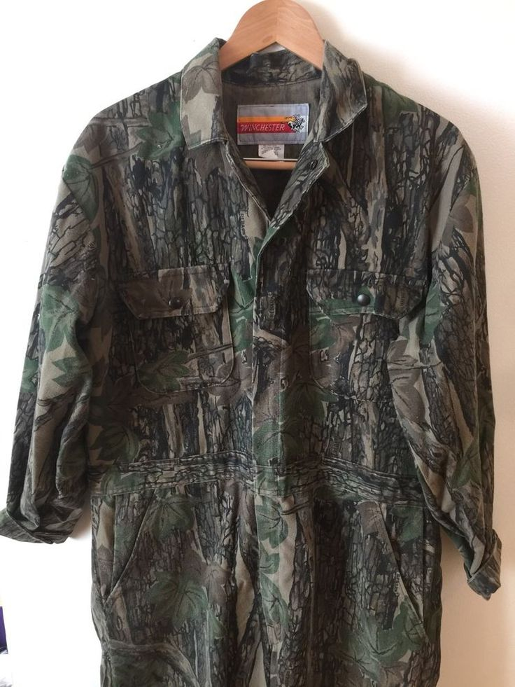 Mens Overalls Winchester Hunting Camo Unlined Coveralls Mens Size L Jumpsuit    | eBay