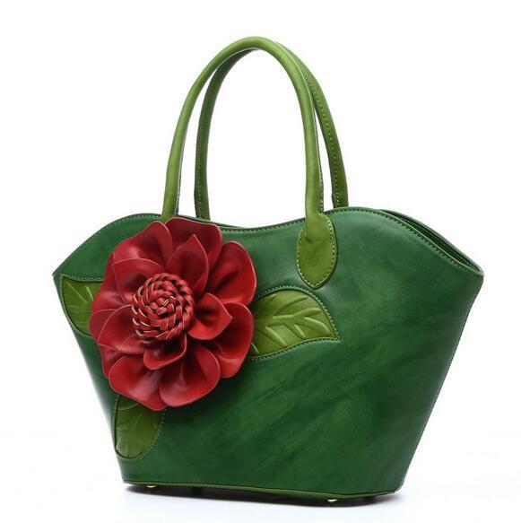 Flower Women Handbags PU Leather Shoulder Bag For Female Designer Printing Ladies Bag Famous Brand Tote Sac bolsa mujer PP-604