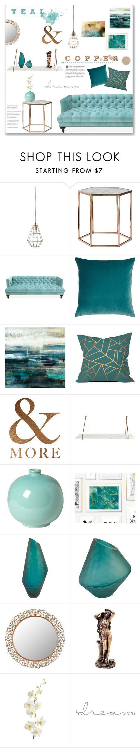Teal Copper Living Room By Lauren A J Reid Liked