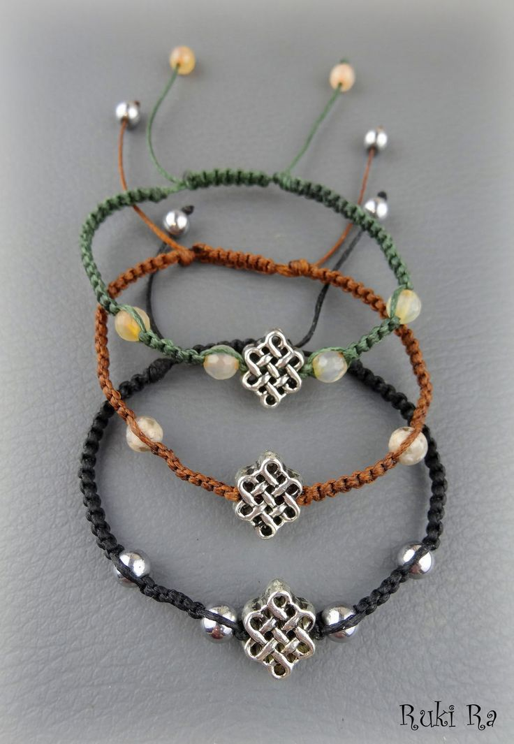 """Купить Плетеный браслет """"Шриватса"""". Eкрашения Ruki Ra. - комбинированный, ruki ra, плетеный браслет"""