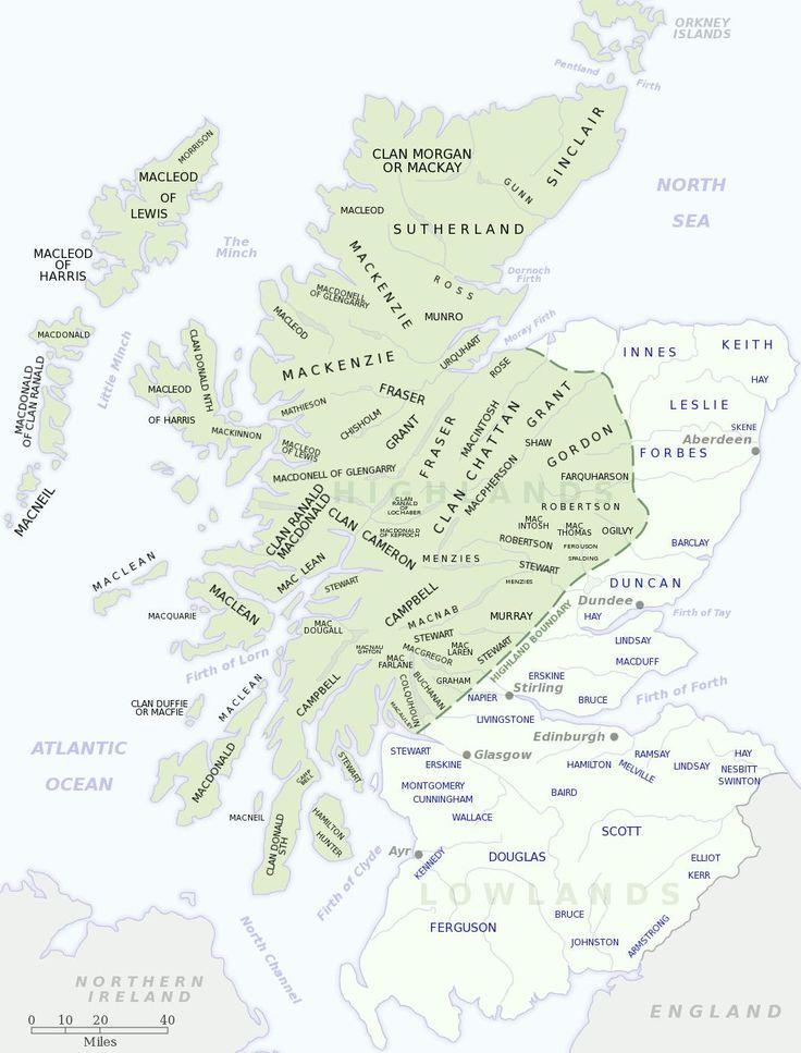 Celtic Tribes of Scotland. Scottish Clans.