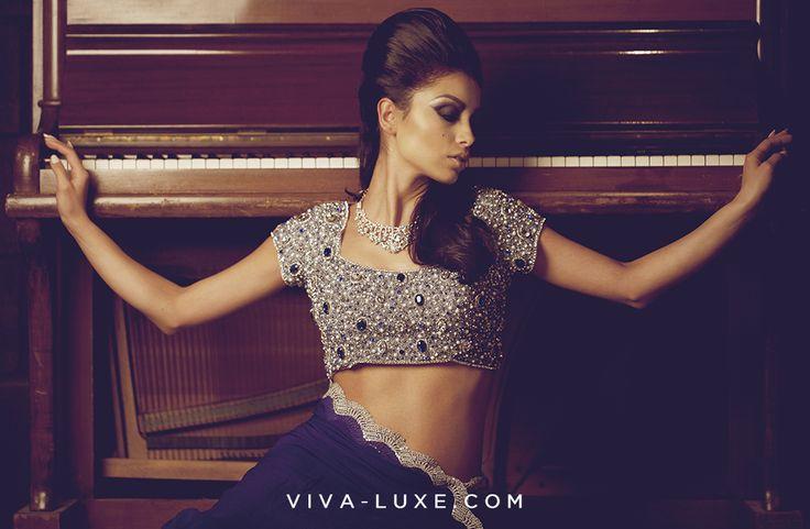 Designer Sarees by Seema Khan on WWW.VIVA-LUXE.COM  #Saree #Bollywood #Fashion #Sareeblouse #VIVA-LUXE