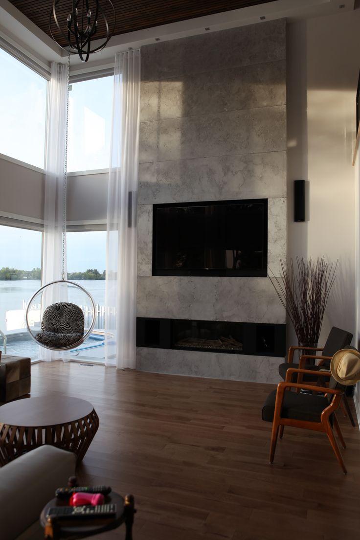 Ba13 Decoration Salon : Best ideas about tile around fireplace on pinterest