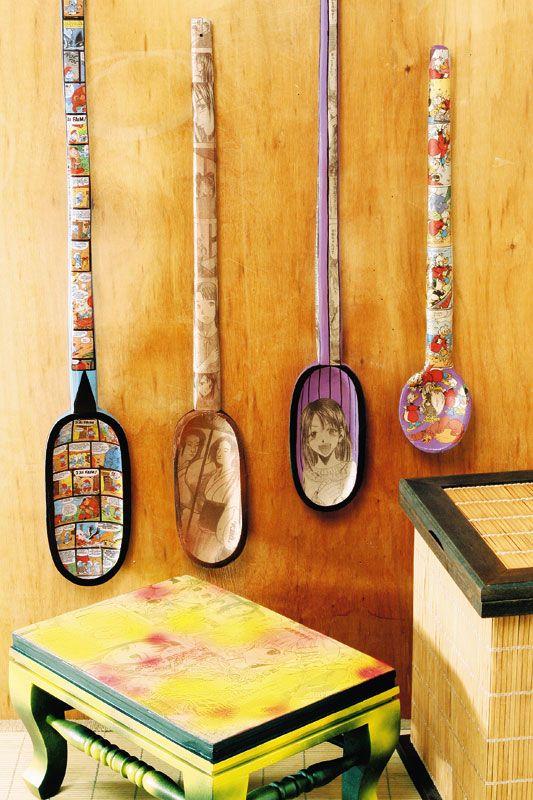 Colher de pau customizada / DIY, craft