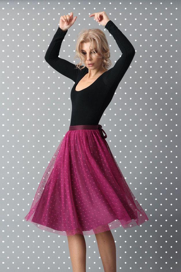 spódnica tiulowa FrouFrou różowa - ColClaudine - Spódnice tiulowe i halki