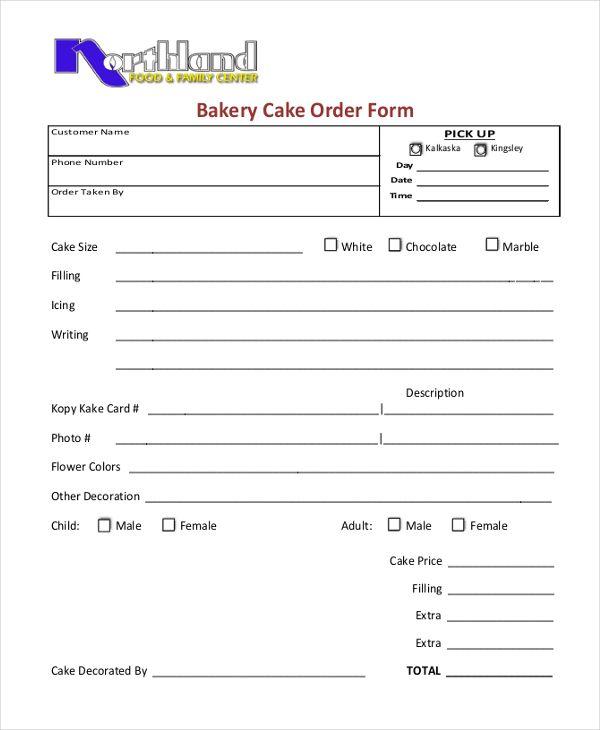 Cake Order Forms Check More At Https Nationalgriefawarenessday Com 46292 Cake Order Forms