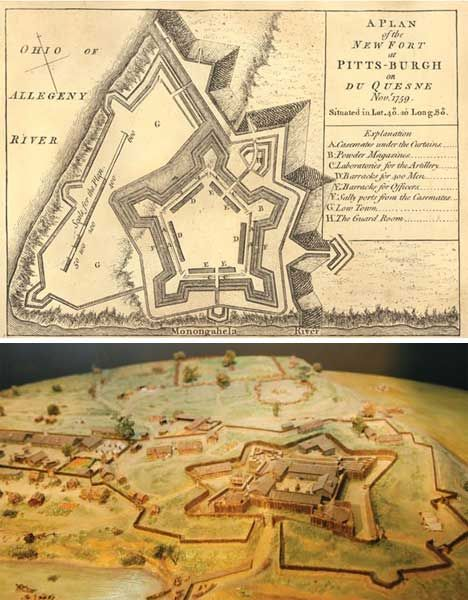 A plan of the new fort at Pittsburgh 1759