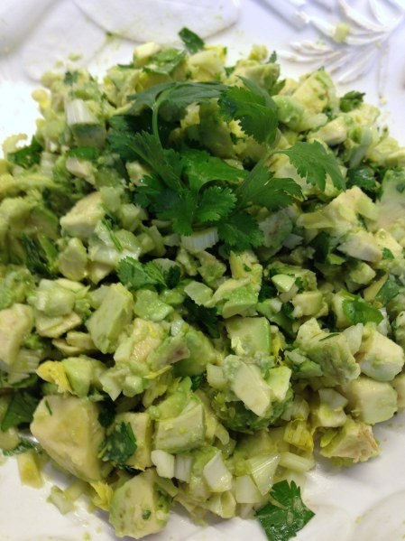 Avocado, Celery Heart and Cilantro Relish - Great for dipping chips ...