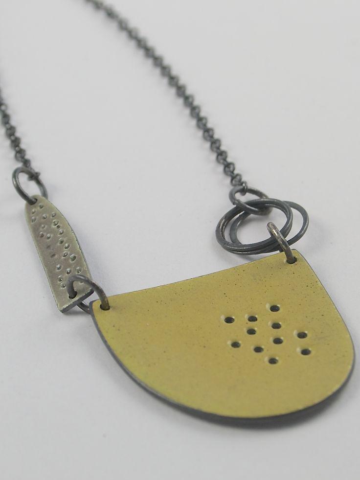 Neckpiece - Silver and vitreous enamel, Caroline Finlay