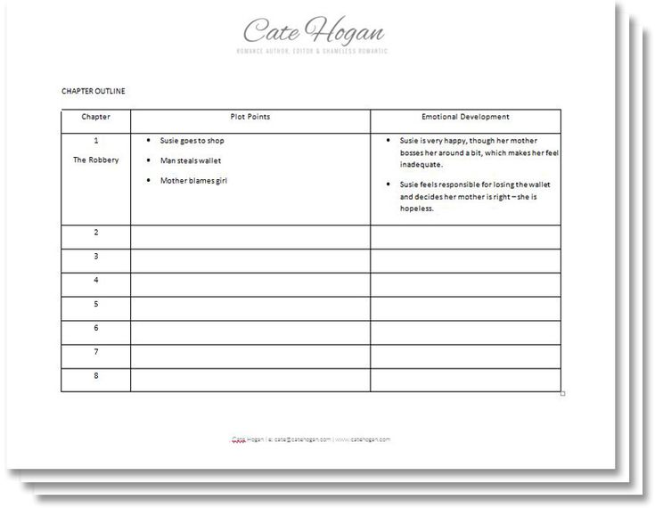 A Free Story Outline Template For Your Novel Or Memoir Writing