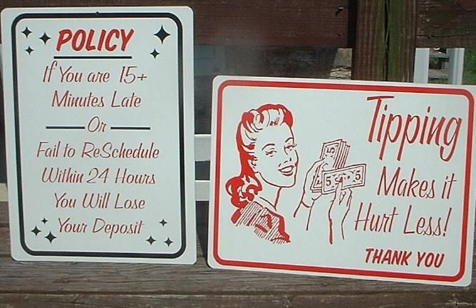 more cool signs for around the shop | Tattoo Shop Ideas | Pinterest
