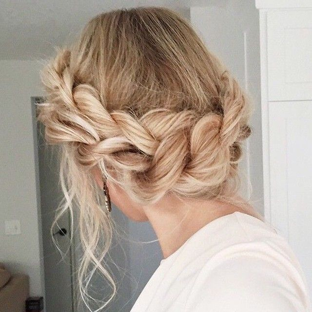 Braid crown for a bohemian updo