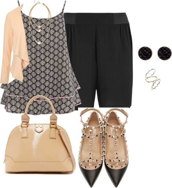 plus size summer office looks/ casual chic by kristie-payne on Polyvore featuring Jane Norman, maurices, Evans, Valentino, Oasis and BP.