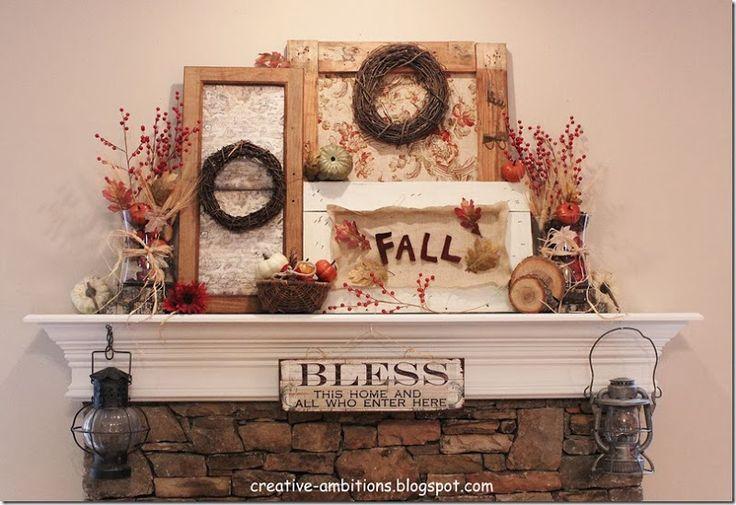 fall mantle -pumpkins - Google Search