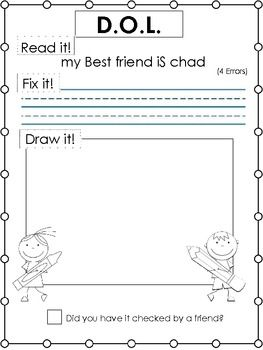 Worksheets Dol Worksheets 1000 images about dol on pinterest language student and tacky d o l daily oral writing practice read it fix