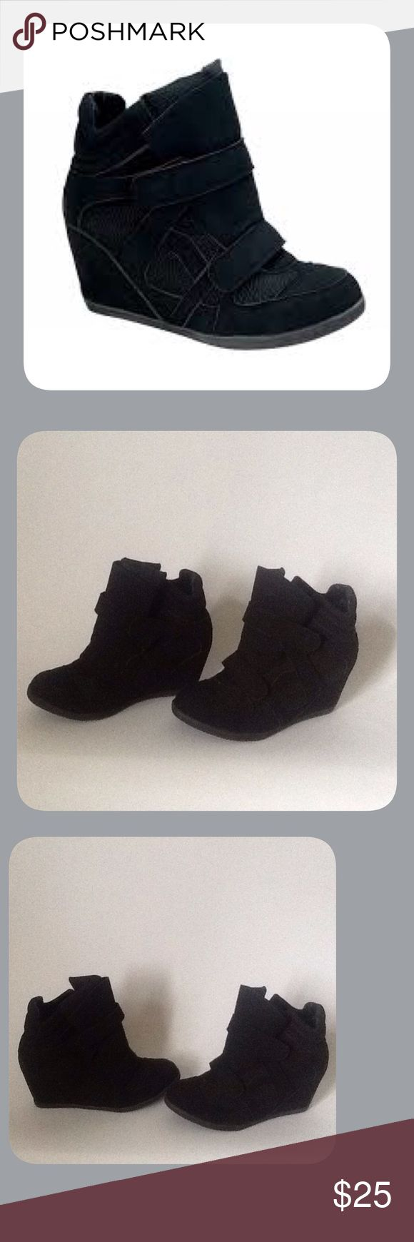Black Wedge Sneakers These are New and have Never been Worn!! To keep Shipping Low I will ship Without the Box!!! Reasonable Offers Only!!! De Blossom Collection Shoes Sneakers