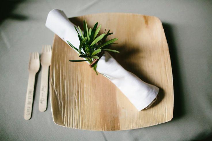 Texas Ranch Wedding Reception Eco-Friendly Bamboo Plates