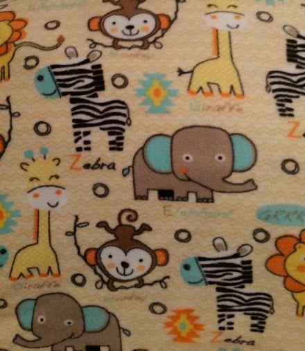 Zoo Animal Toddler Bedding, Safari Animals Throw Blanket, Animals Baby Blankets, Fleece Baby Blanket, Fleece Bedding, Kids Throw Blanket by StephFleeceDesigns on Etsy