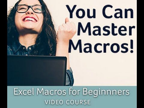 Excel Macros for Beginners Course Tour