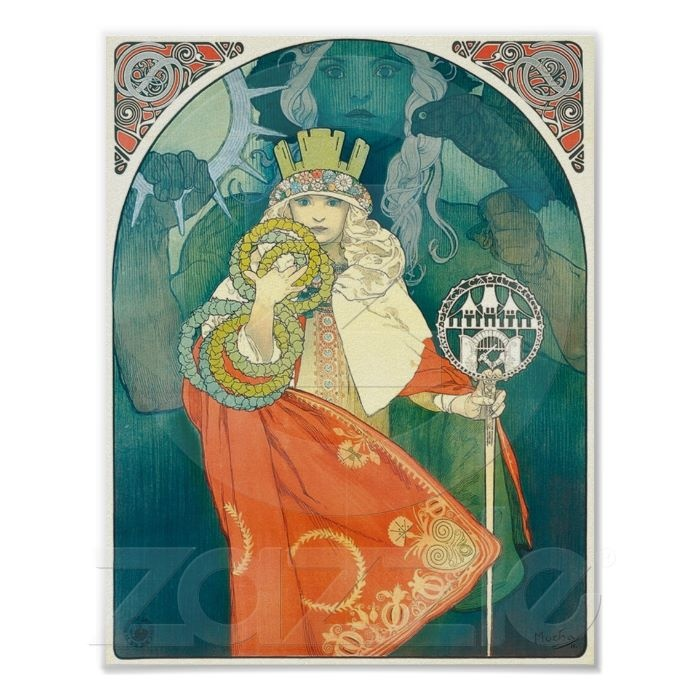 Alphonse Maria Mucha ~ Art Nouveau Poster: Vintage Posters, Picture-Black Posters, Beautiful Colors, Colors Combinations, Art Nouveau Posters, Color Combinations, Colors Insp