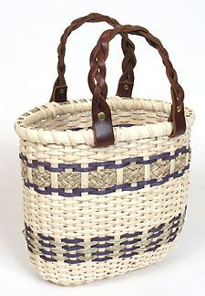 Marie's Handbag Basket Pattern.  Names in memory of Marie. Colors are nice; braided seagrass is nice accent.