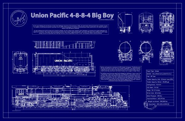 77 best railroad blueprints technical drawing whiteprints and union pacific big boy malvernweather Gallery