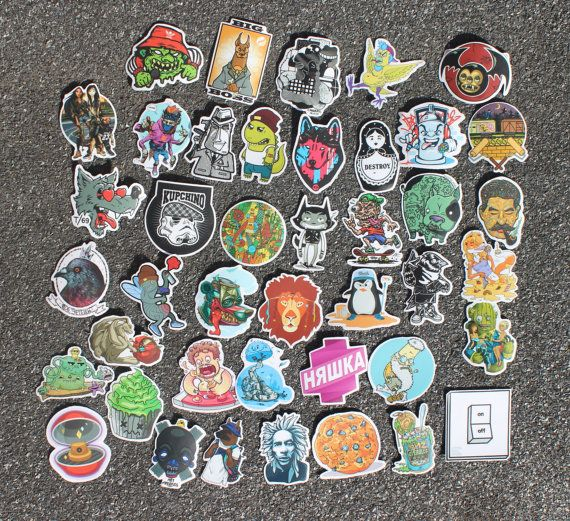 Sticker pack 42 vinyl stickers street art stickers