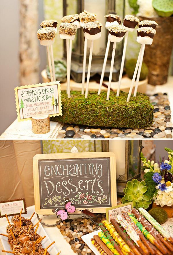 Lovely Enchanted Forest + Woodland Style First Birthday