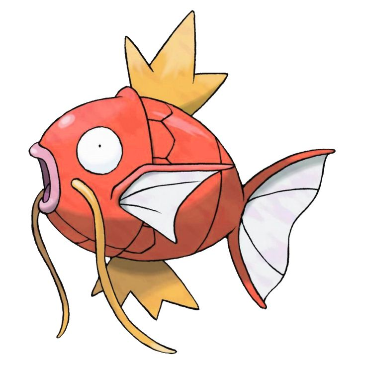 Magikarp - 129 - It is virtually worthless in terms of both power and speed. It is the most weak and pathetic Pokémon in the world. In the distant past, it was somewhat stronger than the horribly weak descendants that exist today.  @PokeMasters