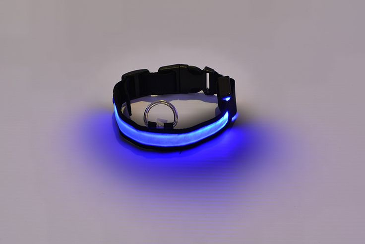 3 Mode LED Light up Dog/cat/pet Collars (S 13-15 Inch, Blue) -- You can get more details by clicking on the image. (This is an affiliate link and I receive a commission for the sales)