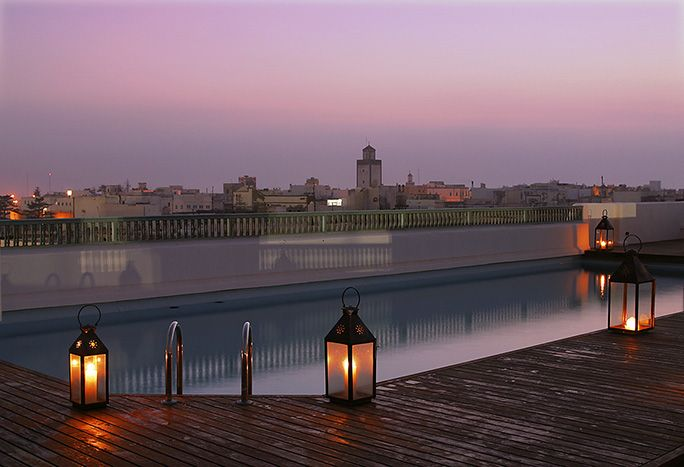 L'Heure Bleue Palais. Hotel and restaurant on the seafront. Essaouira, Morocco.    #relaischateaux #morocco