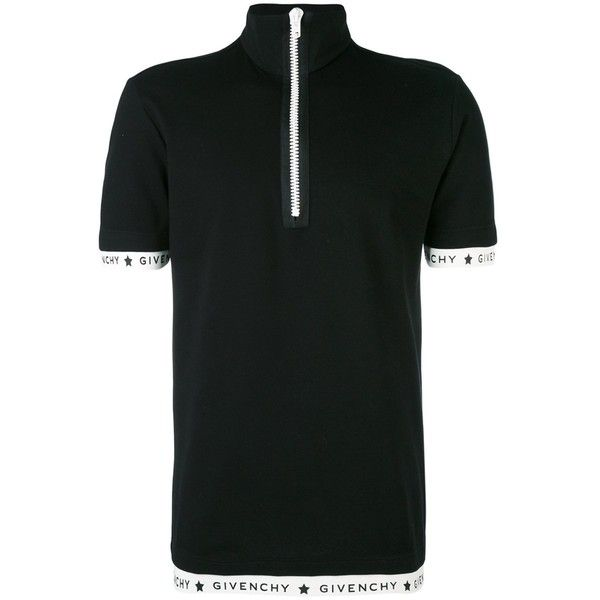 Givenchy Men's Black Cotton Polo Shirt ($603) ❤ liked on Polyvore featuring men's fashion, men's clothing, men's shirts, men's polos, black, mens polo shirts, mens cotton shirts, givenchy mens shirt and men's cotton polo shirts