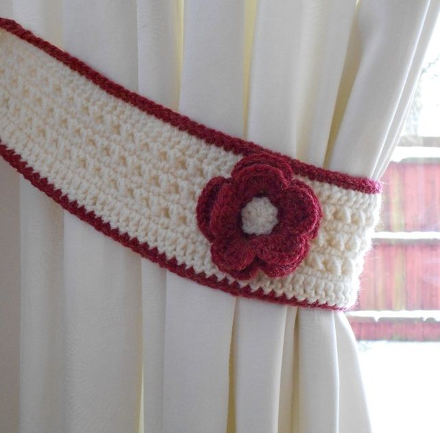 17 Best Images About Curtains And Tie Backs To Crochet On