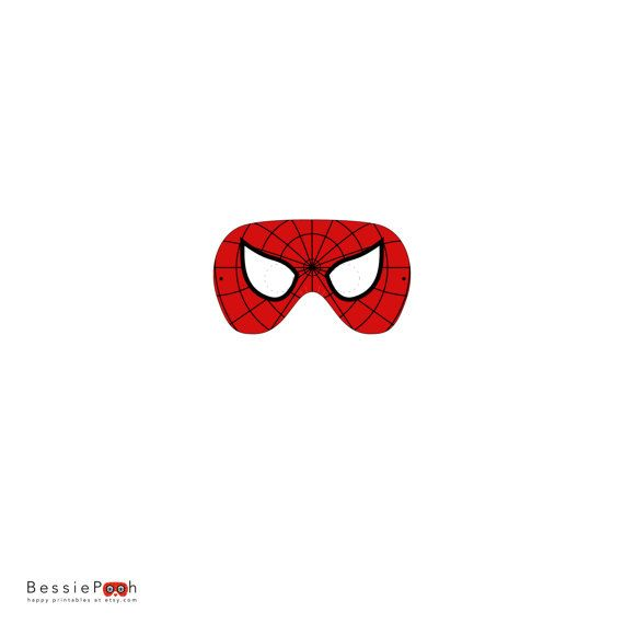 printable spiderman mask  instant download pdf file  by