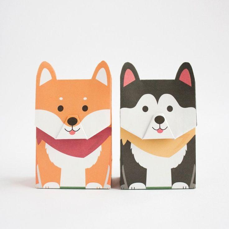 Animal gift wrapping paper bag - Shiba Ranger (L size) - GOTOME | Pinkoi