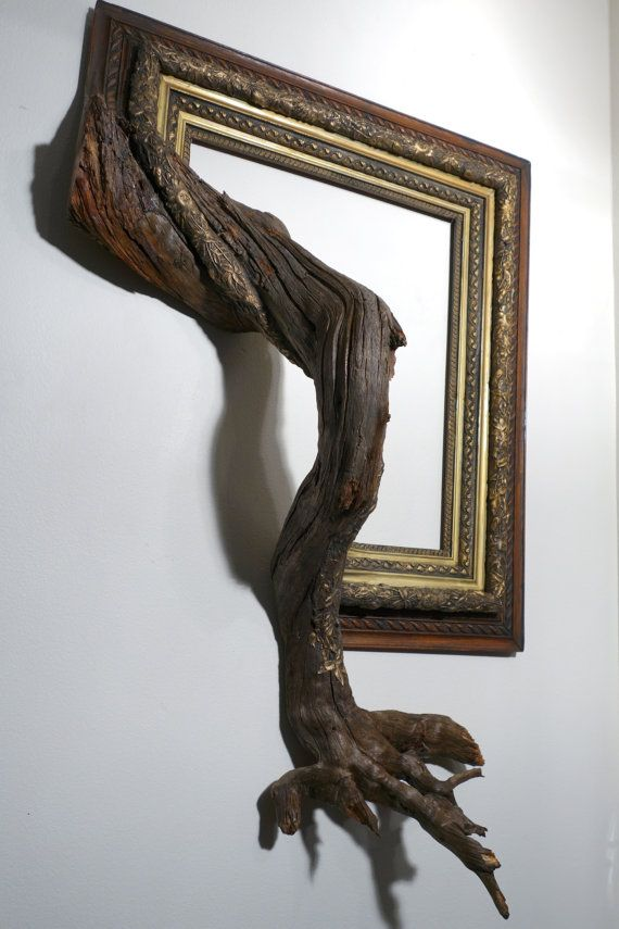 Fusion Frame Tree Branch Art  Drake: Antique by FusionFramesNW